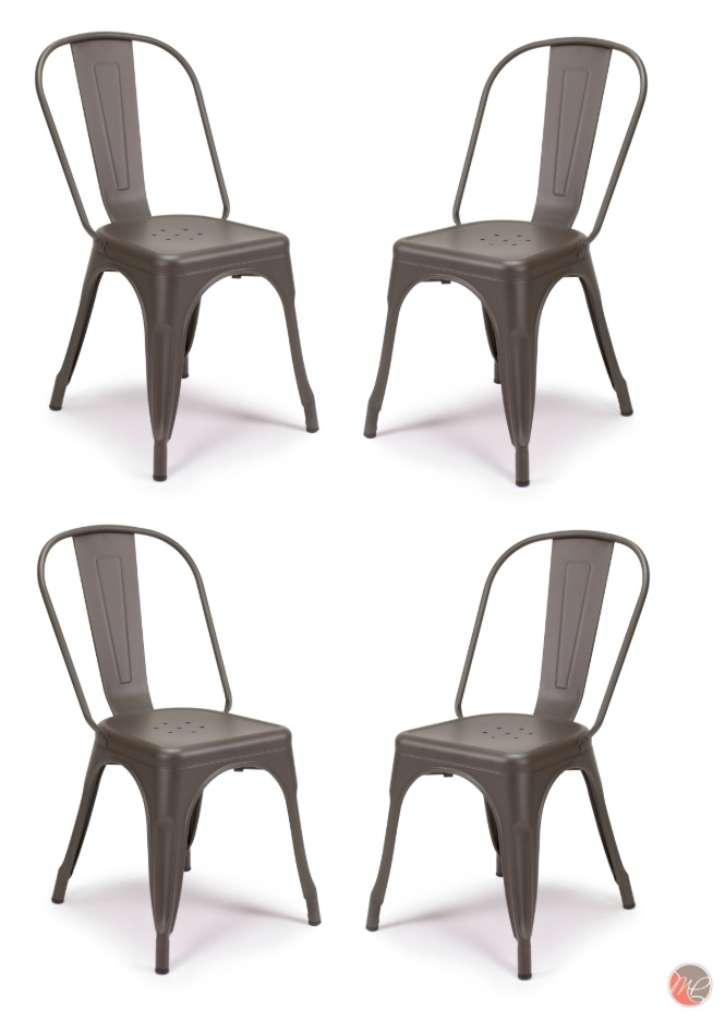 NEW TOLIX VINTAGE COPPER METAL CHAIRS STACKING RETRO BISTRO BAR CAFE RESTAURANT