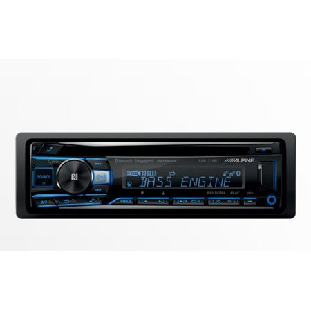 Alpine CDE-175BT, Single-DIN CD Car Stereo w/Bluetooth, USB & Auxiliary Input (Replaces CDE-163BT) Alpine Cd Changer Interface