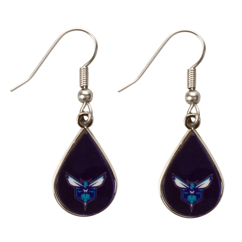 Charlotte Hornets WinCraft Tear Drop Dangle Earrings - No Size