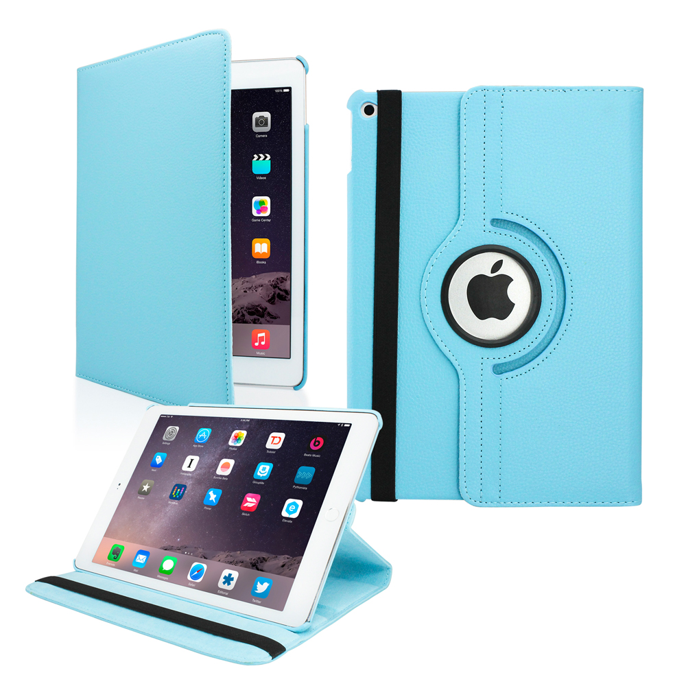 2014 Apple iPad Air 2 360 Degree Rotating Stand Smart Cover PU Leather Swivel Case