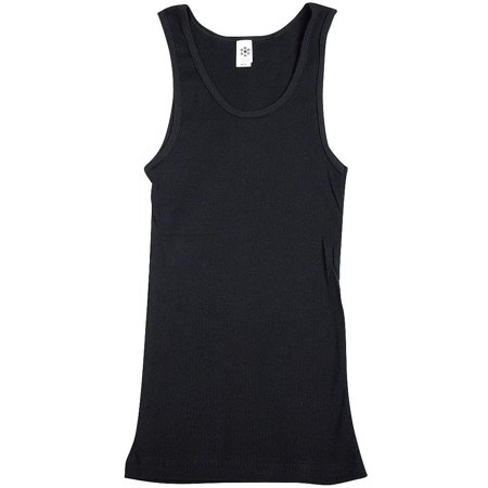 Classic Girl - Junior Womens Ribbed Tank Top Black / Large