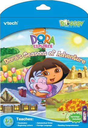Bugsby Reading System Book Dora, Comes with book + cartridge By VTech Ship from US by