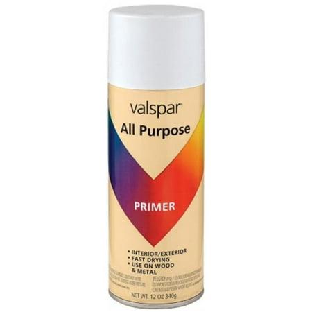 valspar 12 oz white primer all purpose spray paint 465. Black Bedroom Furniture Sets. Home Design Ideas