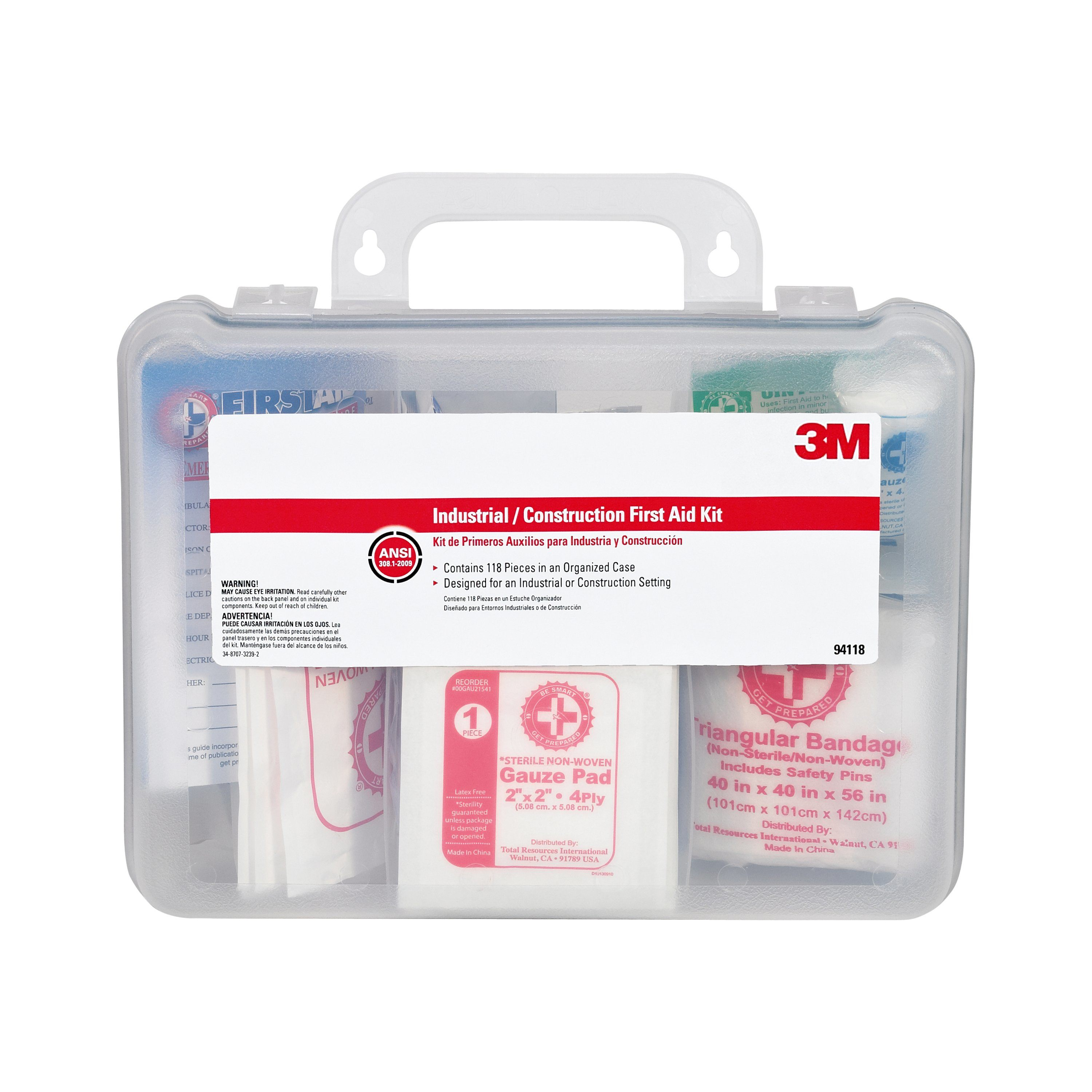 3M Industrical/Construction First Aid Kit, 118 Pieces, OSHA & ANSI Compliant