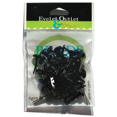 Black Brads (Eyelet Outlet Round Brads 8mm 40/Pkg-Black)