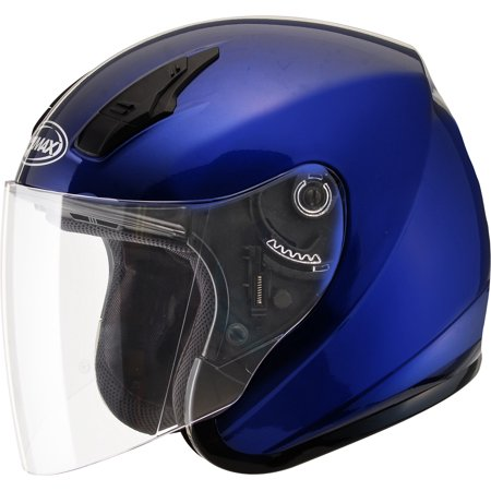 Gmax Motorcycle Helmets (GMAX OF-17 Open Face Motorcycle/Scooter Helmet Blue )