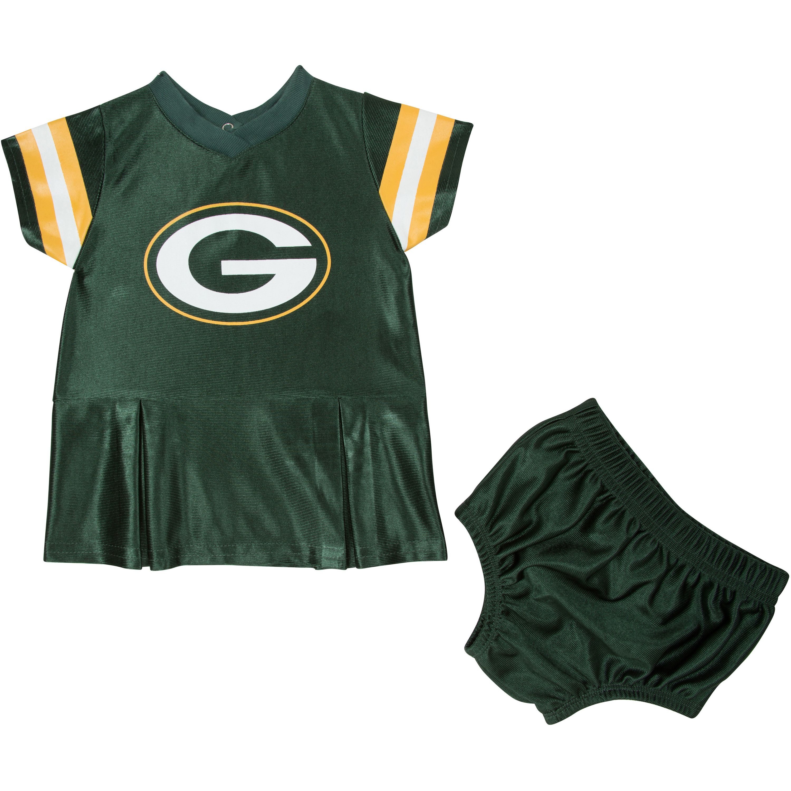 Green Bay Packers Infant Girl Dress & Underwear 2 Pack, 0-3 Months by Gerber Childrenswear, LLC