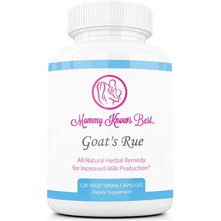 Mommy Knows Best Goat's Rue Lactation Aid Support Supplement for Breastfeeding Mothers 120 (Best Supplements For Alzheimer's)