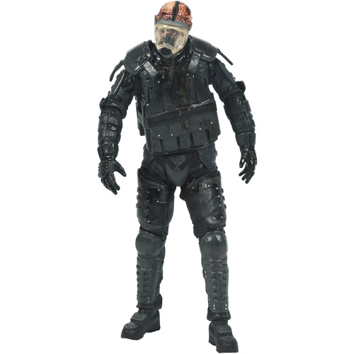 McFarlane Toys The Walking Dead TV Series 4 Riot Gear Gas Mask Zombie Action Figure (Universal)