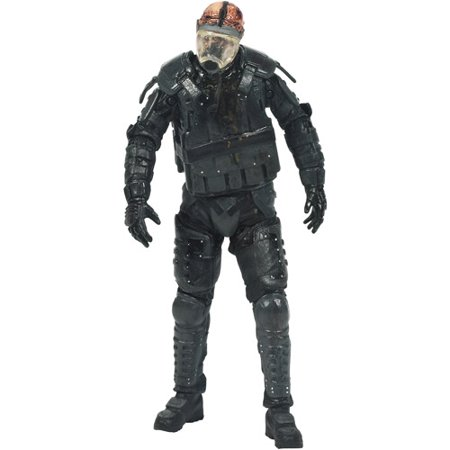 McFarlane Toys The Walking Dead TV Series 4 Riot Gear Gas Mask Zombie Action Figure (Universal) - Zombie Gas Mask
