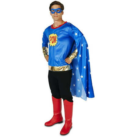 Pop Art Comic Super Hero Man Men's Adult Halloween Costume