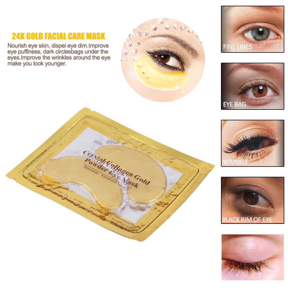 Ocday 24k Gold Facial Care Mask Personal Use Anti Aging Dark Circle Powder Aye Eye Masks