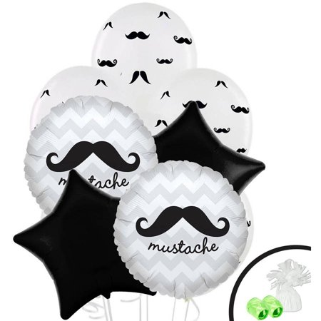 Mustache Themed Birthday (Mustache Man Balloon Bouquet)