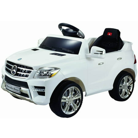 Costway mercedes benz ml350 6v electric kids ride on car for Mercedes benz kids car