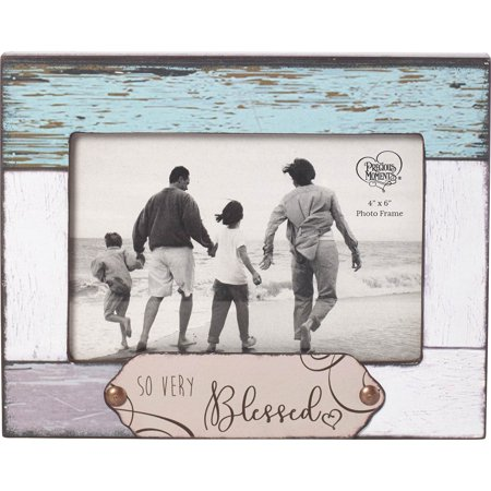 - Precious Moments Farmhouse Decor So Very Blessed Wood/Glass 4 x 6 Photo Frame 189910