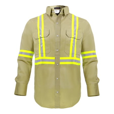 Flame Resistant FR High Visibility Shirt ? 88%C/12%N ? 7 oz twill