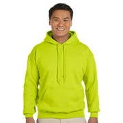 Gildan Mens Heavy Blend Drawcord Hooded Sweatshirt, Safety Green, 2XL, Style, G185