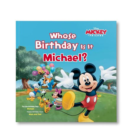 Disney's Mickey and Friends: Whose Birthday Is It? - Personalized Book - Personalized First Birthday Book