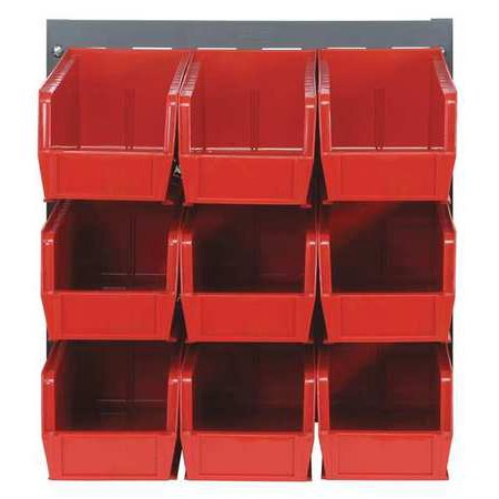 Sided Louvered Rack (QUANTUM STORAGE SYSTEMS QLP-1819-230-9RD Louvered Bench Rack, 18 x 11 x 19 In, )