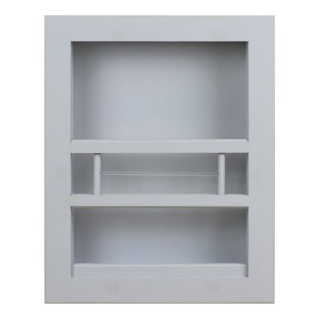 Wg wood products hayden recessed in wall bathroom magazine rack for Recessed in the wall bathroom magazine rack