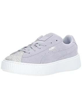 51909638a Product Image PUMA Kids  Suede Platform Glam Sneaker