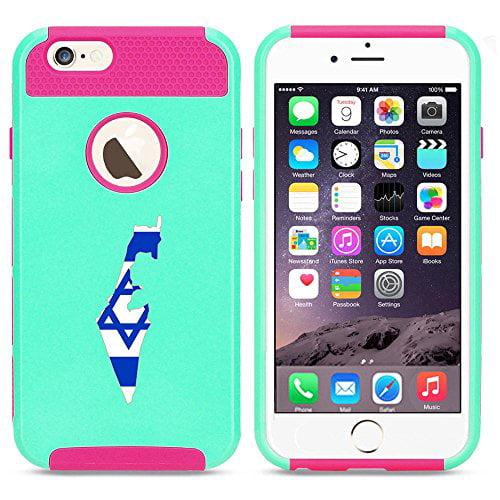 Apple iPhone 5c Shockproof Impact Hard Case Cover Israel Israeli Flag (Light...
