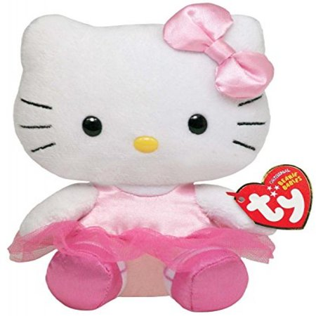 Hello Kitty Halloween Plush (TY Beanie Baby - HELLO KITTY ( BALLERINA ) (5.5)