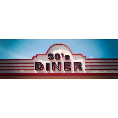 Low angle view of restaurant, 50s Diner, Baguio City, Luzon, Philippines, USA Print Wall