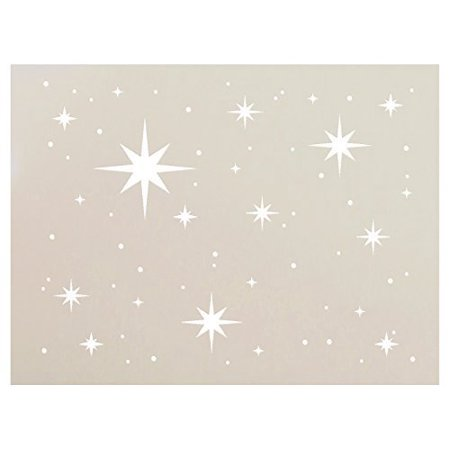 Twinkle Stars Stencil by StudioR12 | Fun Elegant - Reusable Mylar Template | Painting, Chalk, Mixed Media | Use for DIY Home Decor - STCL578 | Multiple Sizes Available (12