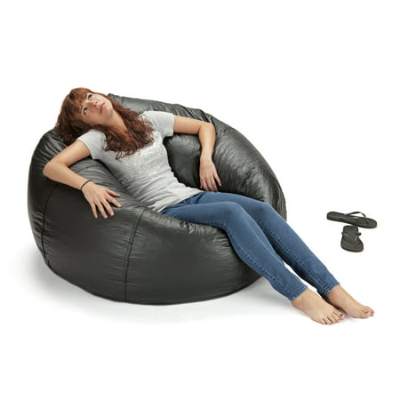 "ACEssentials132"" Round Extra Large Shiny Bean Bag, Multiple Colors"
