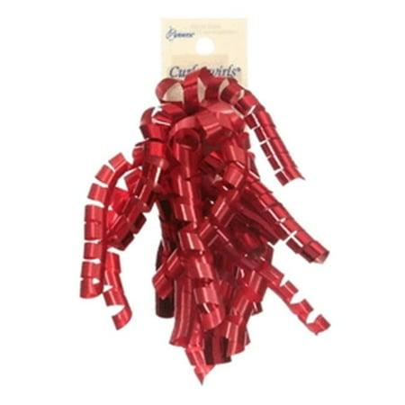 Berwick Offray 78893 Curl Swirl Ribbon - Lava Red Mix