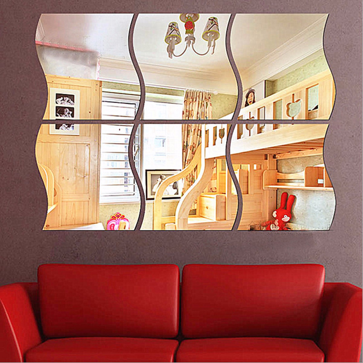 Mirrored Wall Decals mirror stickers