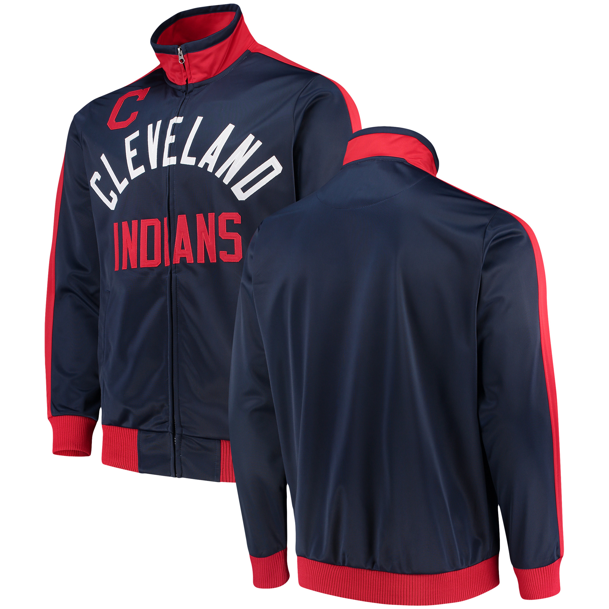 Cleveland Indians G-III Sports by Carl Banks Final Four Full-Zip Track Jacket - Navy