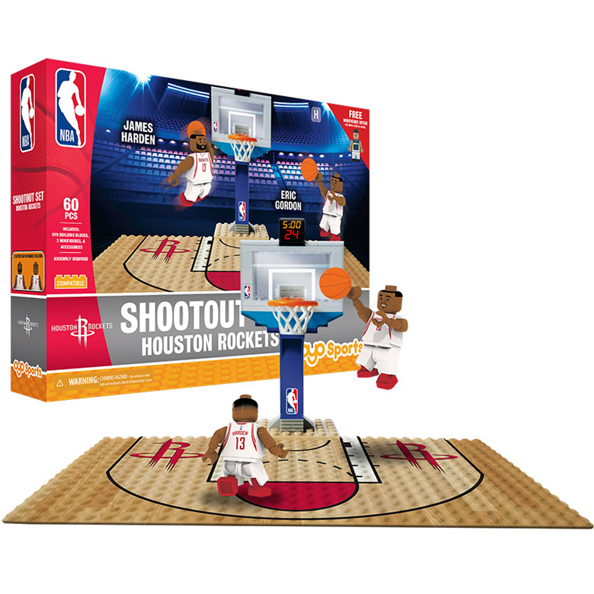 Houston Rockets 3 Point Shot Buildable Set - No Size