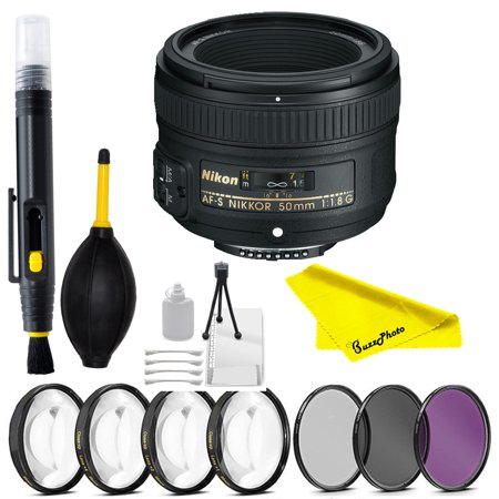Nikon AF-S NIKKOR 50mm f/1.8G Lens for NIkon with cleaning accesories
