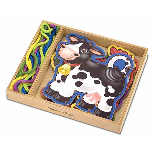 Lace and Trace Activity - Farm Animals