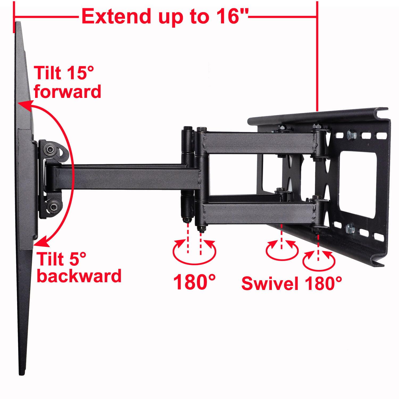 VideoSecu Tilt Swivel Full Motion TV Wall Mount Dual Arm Bracket for Sony  Bravia 32 39 40 42 43 46 49 50 55 60