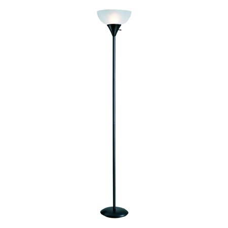 Normande Lighting Black Torchiere Floor Lamp