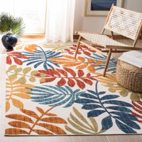 "Safavieh Cabana Elouise Cream/Red 5'3""X7'6"" Indoor/Outdoor Area Rug"