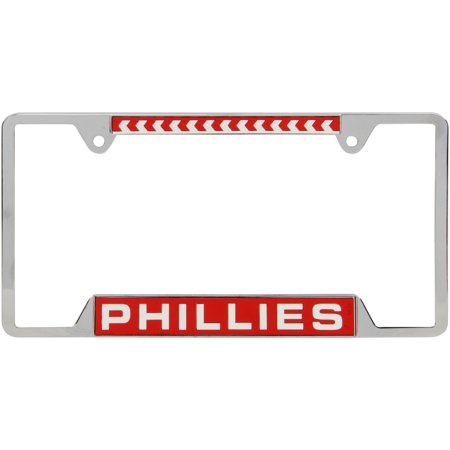 Philadelphia Phillies WinCraft 4-Tab Style Inlaid Metal License Plate Frame - No Size