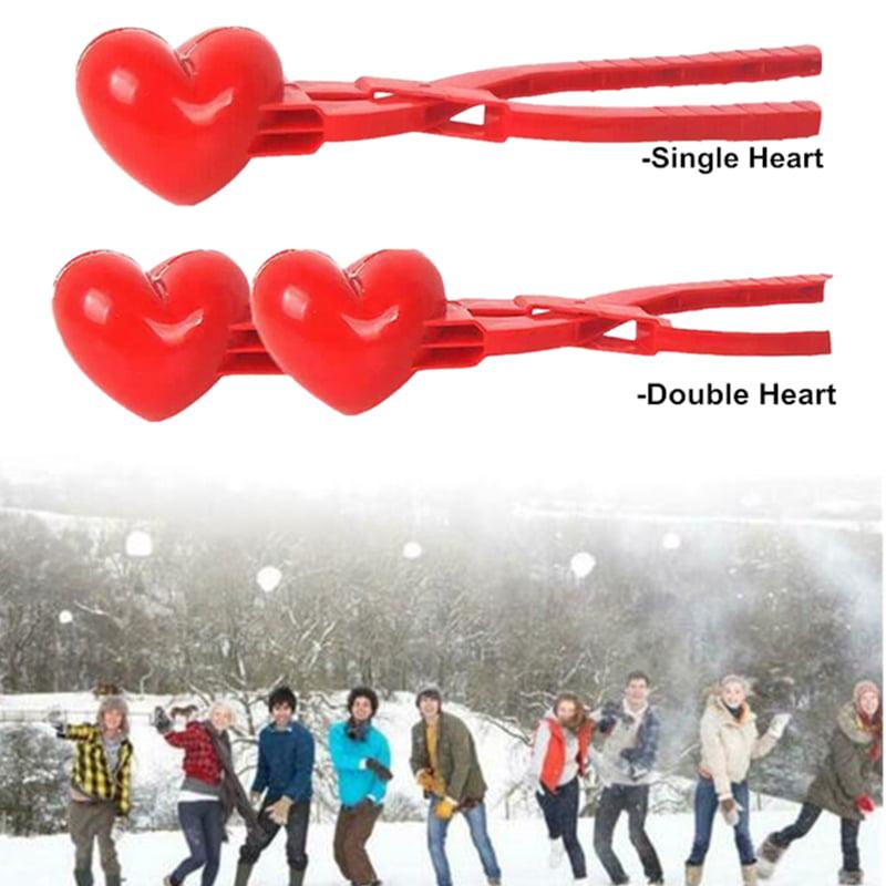 YSXH Heart Snowball Maker Winter Mold Plastic Sand Ball Tool Clip Kids Toy Outdoor