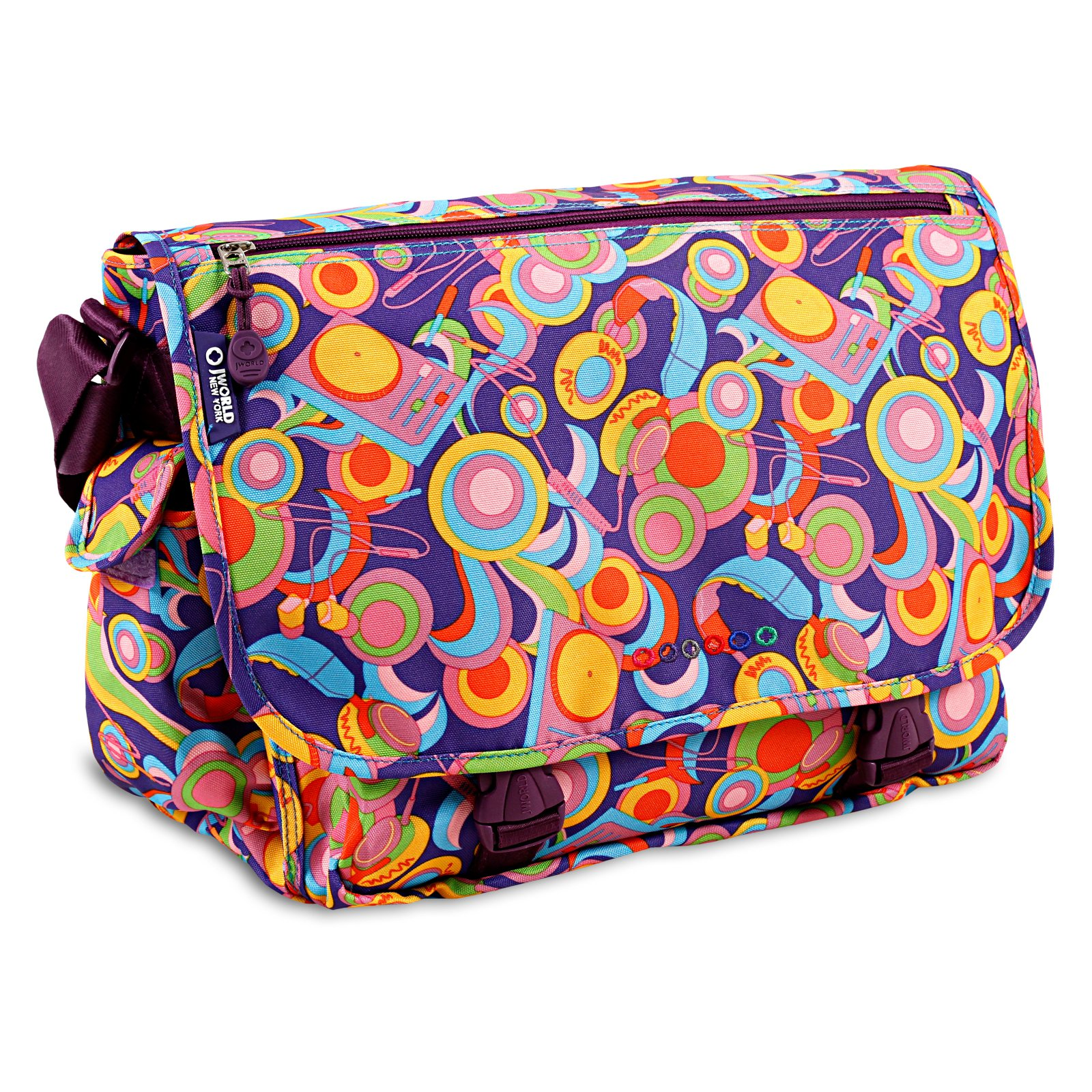 J World Terry Messenger Bag, Funky