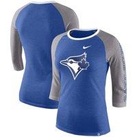 Toronto Blue Jays Nike Women's Tri-Blend 3/4-Sleeve Raglan T-Shirt - Royal