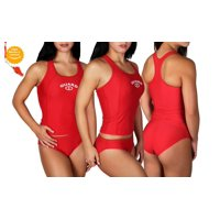 d41cc526e65c39 Product Image Adoretex Women's Guard Tankini Two-Piece Swimsuit in Red,  Multiple Sizes