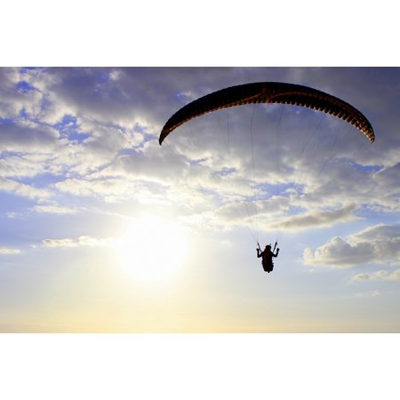 LAMINATED POSTER Sunset Paraglider Wing Flying Paragliding Pilot Poster Print 24 x - X Wing Pilot