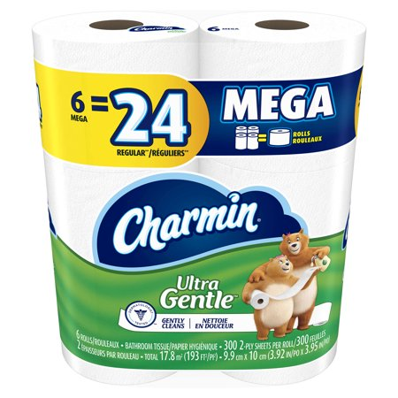 Charmin Ultra Gentle Toilet Paper 6 Mega Rolls (Halloween Crafts With Toilet Paper Rolls)