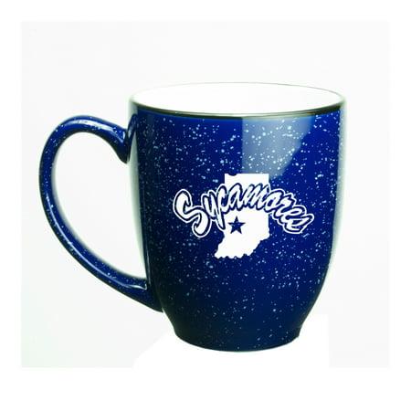 Indiana State Sycamores 15 oz. Deep Etched Cobalt Bistro Mug