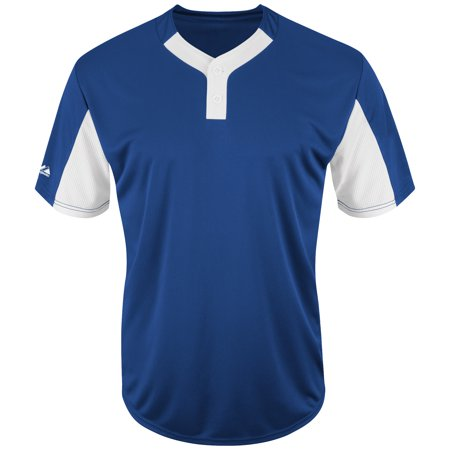 Majestic Premier Eagle Cool Base Two-Button Colorblocked Jersey - Royal/White