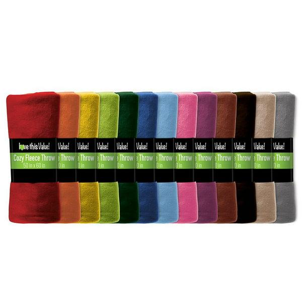Imperial Home 24 Pack Premium Super Soft Cozy Fleece Throw Blanket 50 X 60 Fleece Blanket Walmart Com Walmart Com