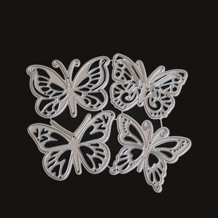 - 4PCS Butterfly Carbon Steel Cutting Dies Knife Mold Stencils DIY Scrapbooking Die Cuts Decor Crafts Embossing Templates Art Cutter Color:1803389